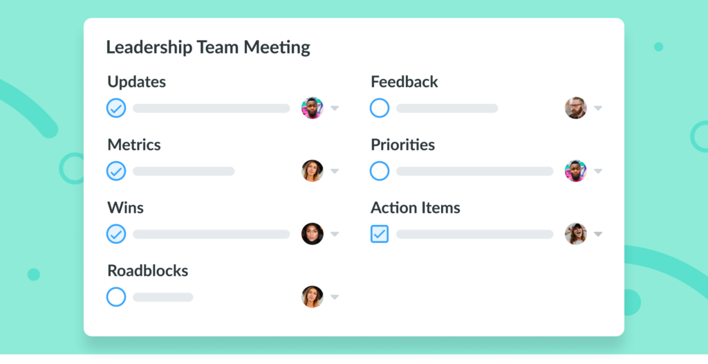 Leadership Team Meeting Template