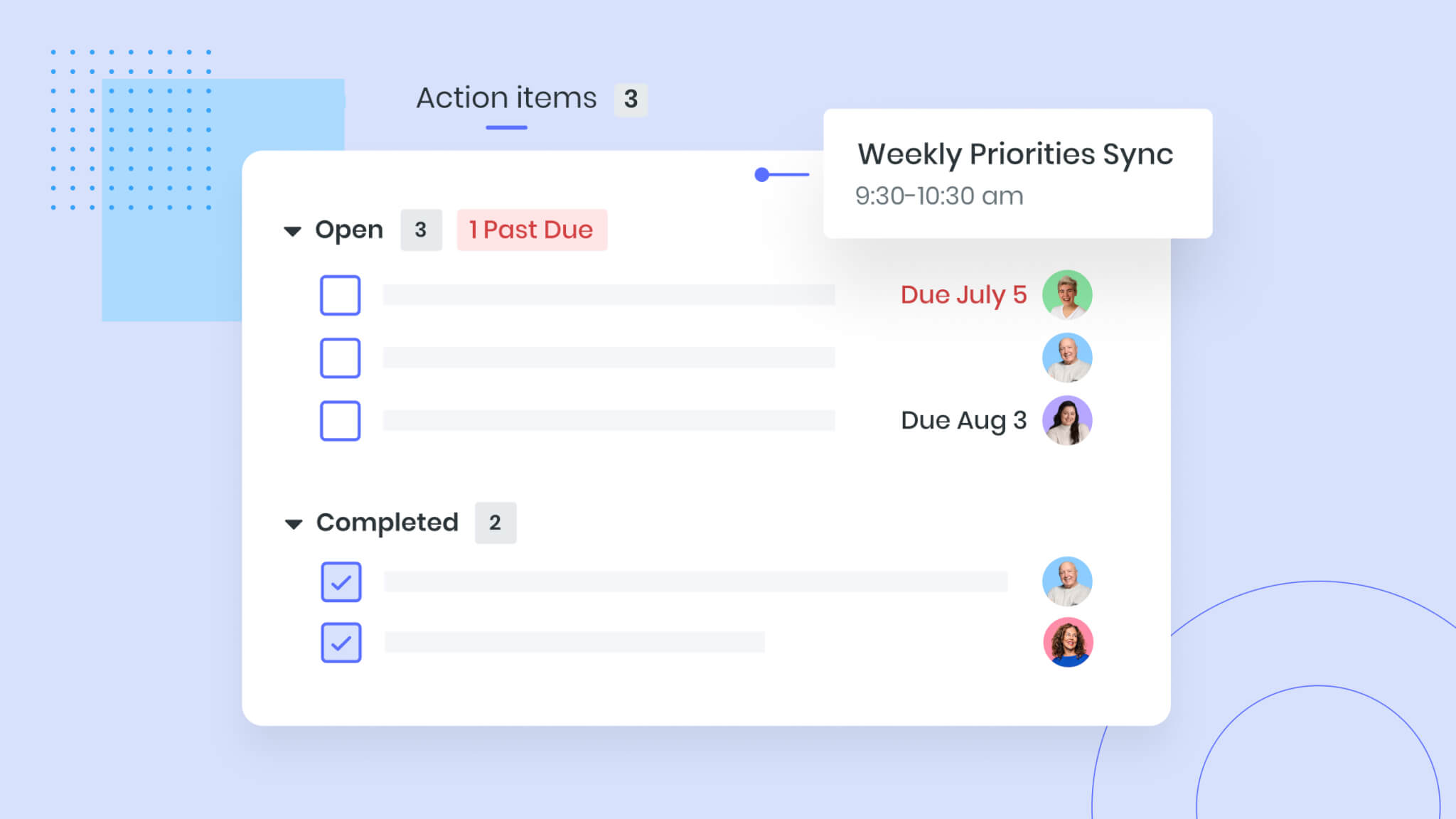 manage meeting tasks and action items
